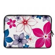 Funda Sleeve Tablet 7 pulgadas Blanca / Flores