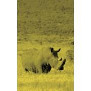Alive! White Rhino - Yellow Duotone - Photo Art Notebooks (5 X 8 Series)