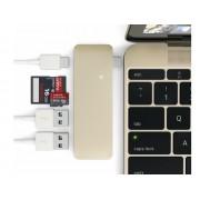 Satechi USB C 3.0 3 in 1 Hub goud