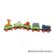 WOODEN ZOO TRAIN SET WITH ANIMALS