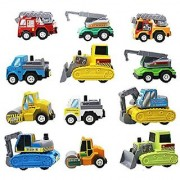 12pcs/lot Multicolor Plastic Mini Pull Back Model Car Educational Toys Children Pull Back Cars Racing Shop Truck Super S