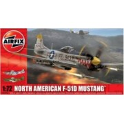 Kit aeromodele Airfix 02047 Avion North American F-51D Mustang Scara 1 72