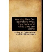 Working Men Co-Operators What They Babe and What They Are Doing by Art H Dyke Acland and Benjamin Jones
