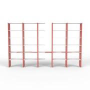 Bücherregal Rot, MDF, 382 cm x 232 cm x 34 cm