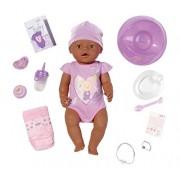 Zapf Creation 819210 - Baby Born Interactive, Bambola etnica con accessori