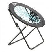 Klarfit Bounco, fekete/kék, bungee szék, 81 x 41/85 cm (BGE1-Bounco)