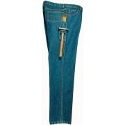 Fabrik Jeans aus strapazierfähigem Denim, Farbe blau, Gr. 52