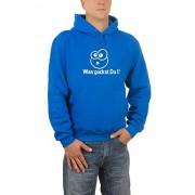 Touchlines Sweatshirt Was guckst Sudadera con capucha, Royal, Medium