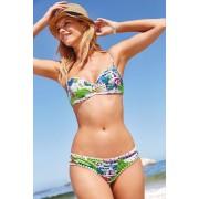 Womens Next Printed Bandeau Bikini Top - Blue/Green
