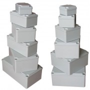 Aluminium kötődoboz, csavaros fedél 190X130X90 IP67 (ALUBOX-512)