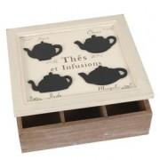 Teebox/Teedose aus Holz wei