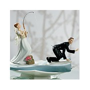 """Caught"" Groom Mix & Match Cake Topper"