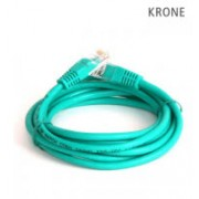 Krone Cat5E UTP Patch Green Molded Cord- 1m
