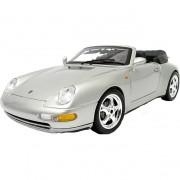 Porsche 911 Carrera Cabrio 1994 N.l. 1:18 zilver
