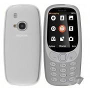 Housse Etui Coque Pochette Silicone Gel Fine Pour Nokia 3310 (2017) + Film Ecran - Blanc Transparent
