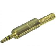 Valueline JC-031 3,5mm sztereo jack dugó szerelhető - aranyozott