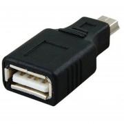 Louiwill USB 2.0 A Hembra A Mini USB B De 5 Pines Macho Adaptador Convertidor(negro)