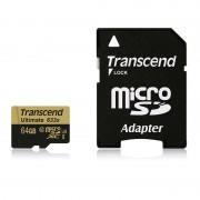 Card Transcend microSDXC Ultimate 64GB Class 10 UHS-I U3 633x cu adaptor SD