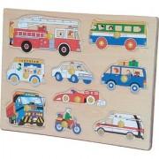Puzzled Peg Wood Puzzle - Vehicles