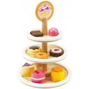 Houten speelgoed dessert etagère