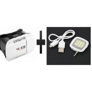 S4D VR BOX and smartphone led flash fill light for iPhone