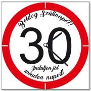 Szülinapi 30 sebességkorlátozós - Tréfás falióra