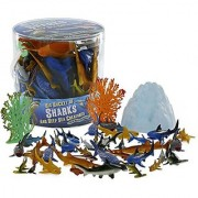 Sharks and Deep Sea Creatures Action Figure Bucket - Huge 41 Piece Set