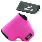 MegaGear Ultra Light Neoprene Camera Case Bag with Carabiner for Canon PowerShot SX60 HS Digital Camera (HotPink)