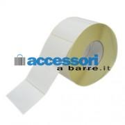 Etichette adesive in carta Vellum 80 x 40 mm per stampanti Industriali a trasferimento termico (ribbon necessario)