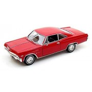 1965 Chevrolet Impala SS396 Coupé [Welly 22417], Rojo, 1:24 Die Cast