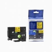 Brother TZ-FX631/TZe-FX631 12mm x 8m flexi černý tisk/žlutý podklad kompatibilní