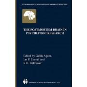 The Postmortem Brain in Psychiatric Research by Galila Agam