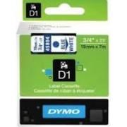 Dymo D1 Label Cassette 19mmx7m (SD45804) - Blue on White