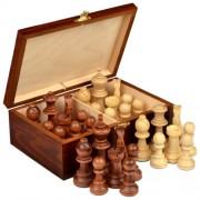 Staunton No. 7 Tournament Chess Pieces in Wooden Box by Wegiel