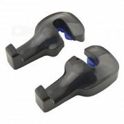 Cabeza del coche de Pertiga Universal monto la suspension Hook - Negro (2 piezas)