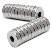 Set Of 10Pcs 10mm x 3mm x 3mm(HOLE) Round RING Rare Earth NdfeB Neodymium Strong Magnets N52