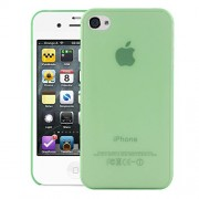 Quicksand Air skin Super Thin Matte Finish Anti Slip Back Case Cover for Apple iPhone 4S Green
