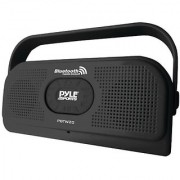 PYLE PBTW20BK Surf Sound 2-In-1 Waterproof Wireless Bluetooth Stereo Speaker & Microphone for Call Answering Black