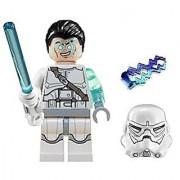LEGO Star Wars Jek-14 Minifigure Complete - White lightsaber helmet hair-piece & lightning (2014)
