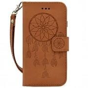 Para Carteira / Porta-Cartão / Com Relevo Capinha Corpo Inteiro Capinha Filtro dos Sonhos Rígida Couro PU para Samsung A5(2016) / A3(2016)