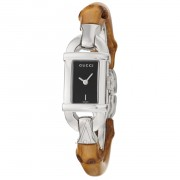 Gucci Womens Ya068514 Series Brown Strap Watch