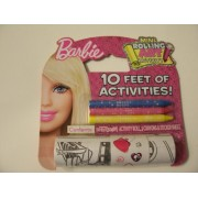 Barbie Mini Rolling Art Activity Set ~ 10 Feet Of Activities (With Crayons)