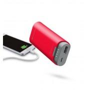 Външна батерия Cellularline 5200 mAh (червена)