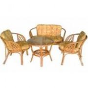 Garnitura od prirodnog ratana dvosed + sto + 2 stolice 1330061