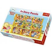 Trefl - 90304 - Puzzle Classique - 3 X Story Winnie The Pooh - 30-40-60 Pièces
