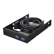 "Akasa2.5""SSD&HDDAdapterw/2xUSBPorts-Noir"