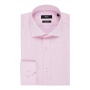 HUGO BOSS Gordon strijkvrij regular fit overhemd met micro ruitdessin