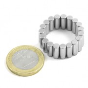 Magnet neodim cilindru, diametru 4 mm, putere 1,1 kg