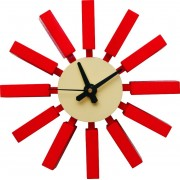 Replica George Nelson Block Clock - Red