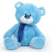 Blue 5 Feet Big Teddy Bear with Muffler